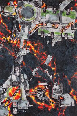 6'x4' G-Mat: Deathworld Forge