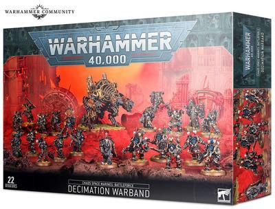 CHAOS SPACE MARINES: DECIMATION WARBAND.