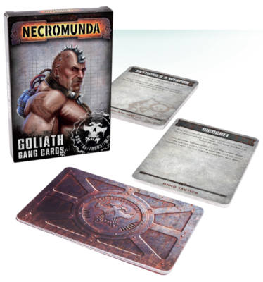 NECROMUNDA: GOLIATH GANG TACTICS CARDS.