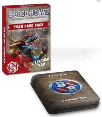 BLOOD BOWL: LIZARDMEN TEAM CARDS ENG