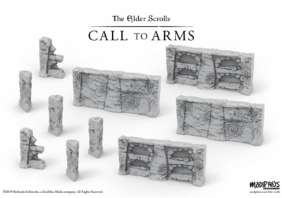 Elder Scrolls: Call to Arms - Nord Tomb Walls Terrain