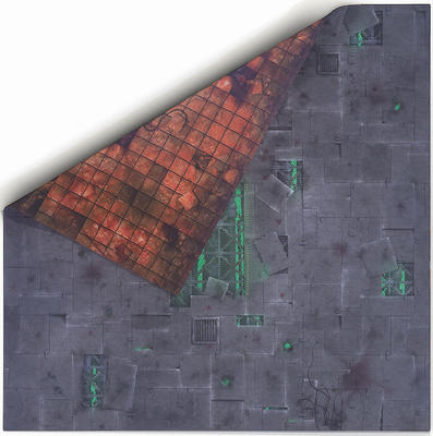 4'x4' Double Sided G-Mat: Chem Zone and Necropolis