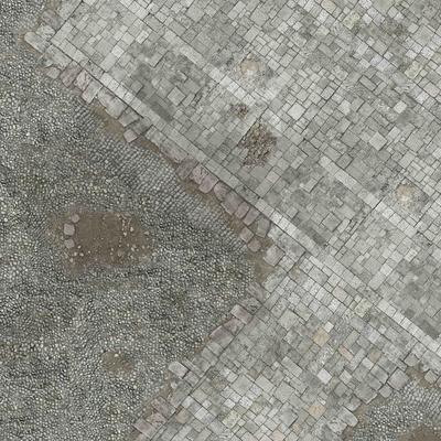 3'x3' G-Mat: Medieval Town - 1