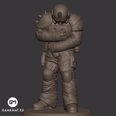 Injured man 3D file