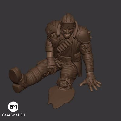 One leg man 3D file