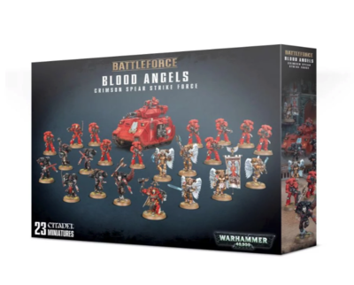 BLOOD ANGELS CRIMSON SPEAR STRIKE FORCE