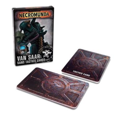 NECROMUNDA: VAN SAAR GANG TACTICS CARDS.