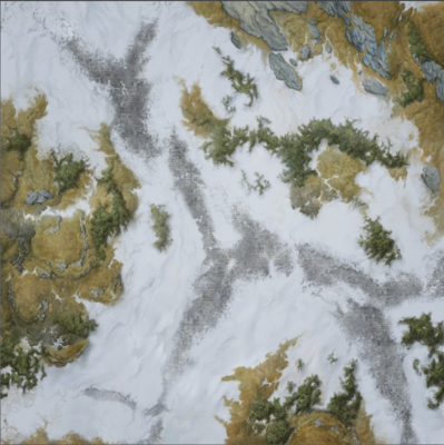 Elder Scrolls - 3x3 Double Sided mat Ruins-Wilderness - 1