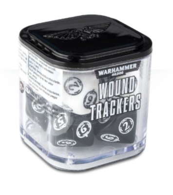 Wound Trackers Dice Black and White