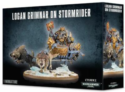 SPACE WOLVES Logan Grimnar on Stormrider