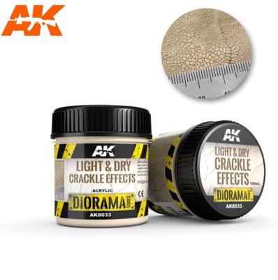 LIGHT & DRY CRACKLE EFFECTS - 100ml (Acrylic)