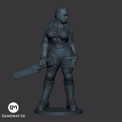 Standing woman 3D file