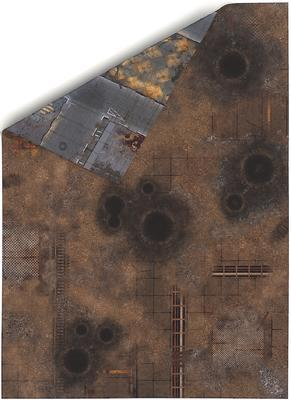 """44""""x60"""" Double sided G-Mat: Quarantine and Fallout Zone - 1"""