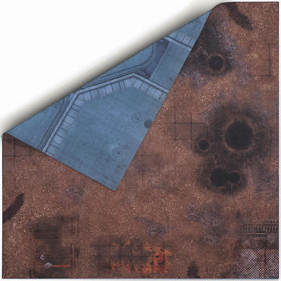 4'x4' Double Sided G-Mat: Fallout Zone and Imperial Base - 1
