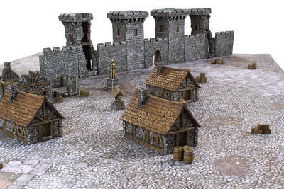 Medieval Houses Set - 12