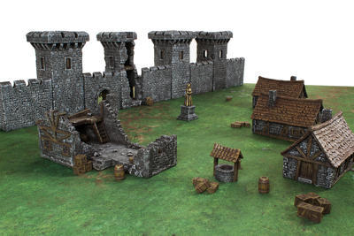 Medieval Houses Set - 13