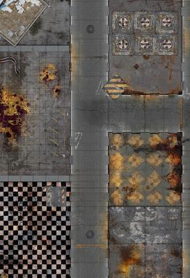 "44""x30"" Double sided G-Mat: Quarantine and Fallout Zone - 2"