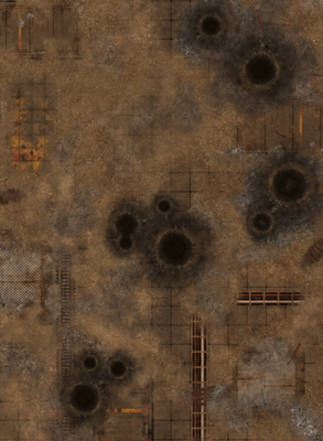 """44""""x60"""" Double sided G-Mat: Quarantine and Fallout Zone - 2"""