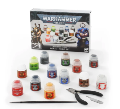 WARHAMMER 40K PAINTS+TOOLS - 2