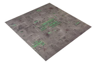 4'x4' Double Sided G-Mat: Chem Zone and Necropolis - 2