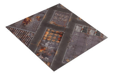 4'x4' Double Sided G-Mat: Quarantine and Fallout Zone - 2