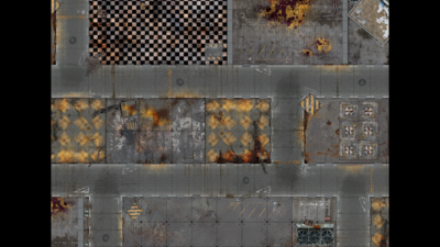 """44""""x60"""" Double sided G-Mat: Quarantine and Fallout Zone - 3"""