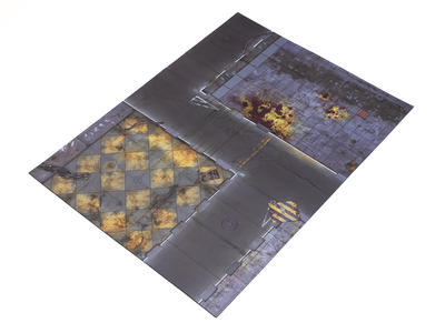 "22""x30"" Double Sided G-Mat: Quarantine and Fallout Zone - 3"