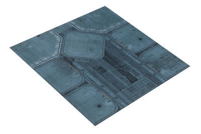 4'x4' Double Sided G-Mat: Fallout Zone and Imperial Base - 3