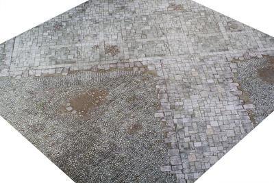 4'x4' G-Mat: Medieval Town - 4