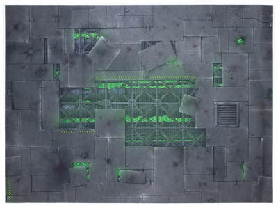 """22""""x30"""" Double Sided G-Mat: Chem Zone and Necropolis - 5"""