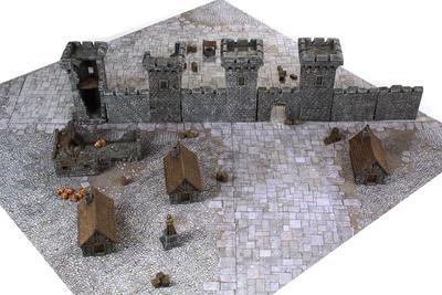 4'x4' G-Mat: Medieval Town - 6