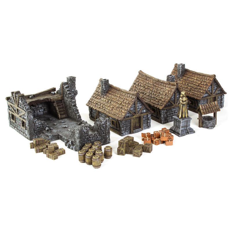 Medieval Houses Set - Gamemat eu