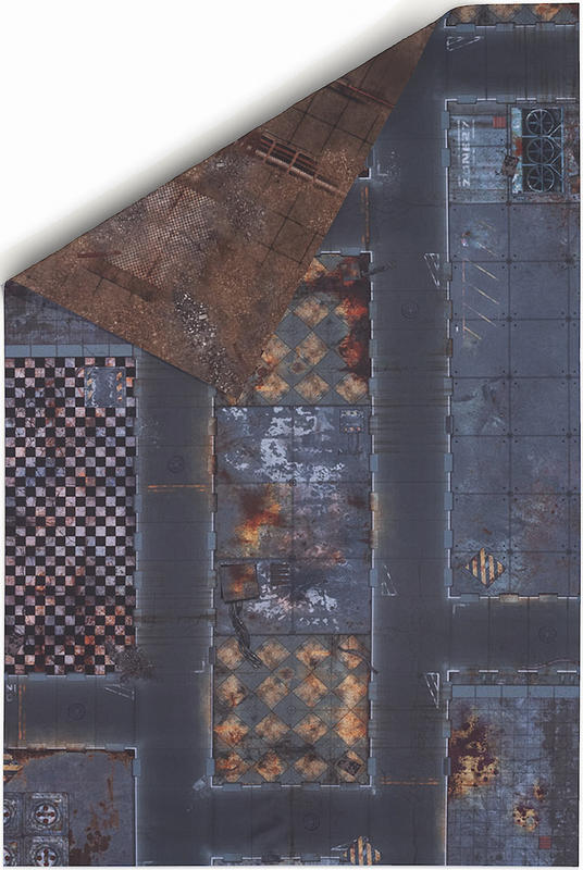 6/'x4/' Double Sided G-Mat Quarantine Zone and Fallout Zone